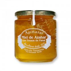 Miel de Azahar con Trozos de Panal 500 g.